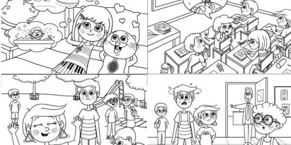 Le monde de Margot Piano - Exemple Illustrations