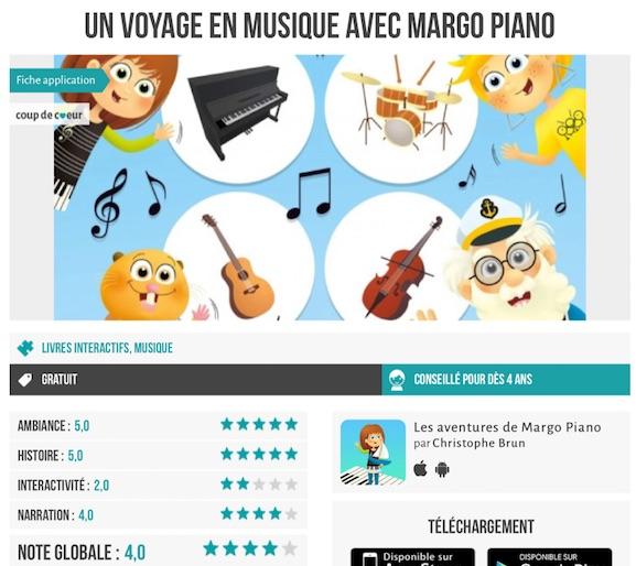 App-Enfant.fr parle de Margo Piano